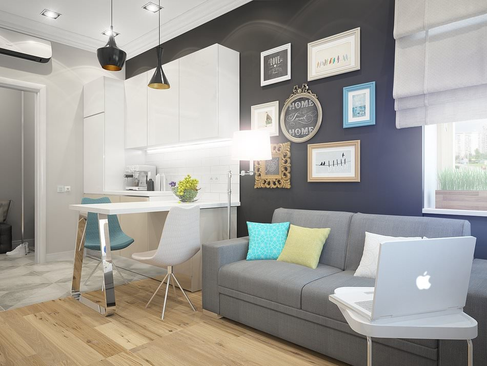 Оформление интерьера маленькой двухкомнатной квартиры