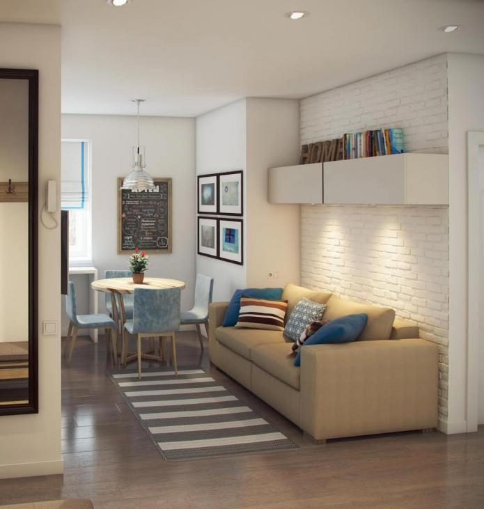 Квартира 52 квадратных метра для семьи с двумя детьми