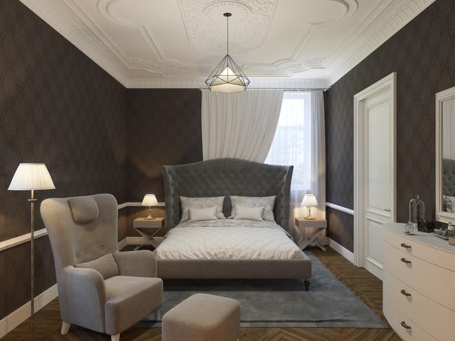 Дизайн двухкомнатной квартиры в современном классическом стиле