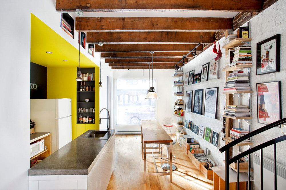 Интерьер маленького дома-студии
