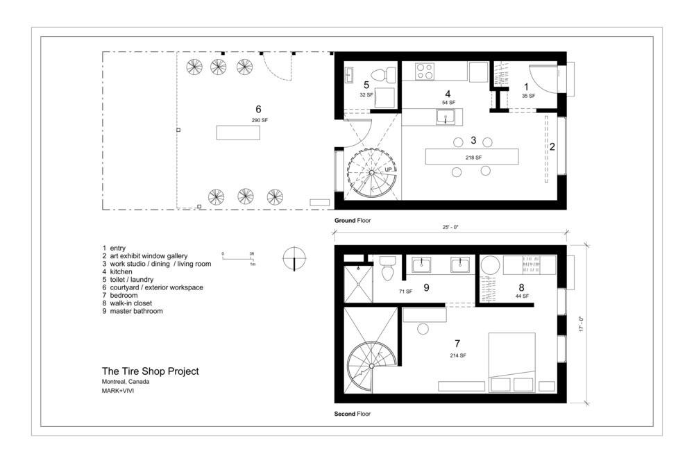 Планировка маленького дома-студии