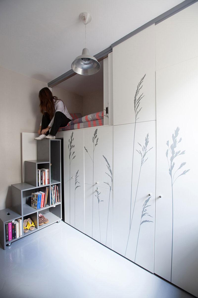 Оригинальный дизайн интерьера маленькой комнаты