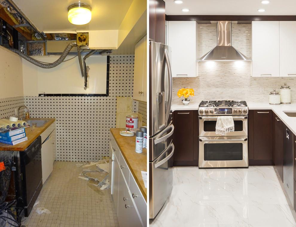 Дизайн интерьера маленькой кухни до и после ремонта