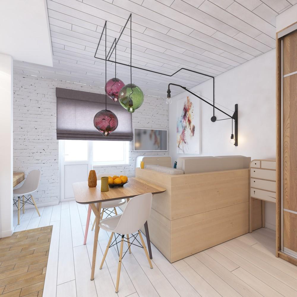 Дизайн интерьера маленькой квартиры с яркими акцентами - фото 3