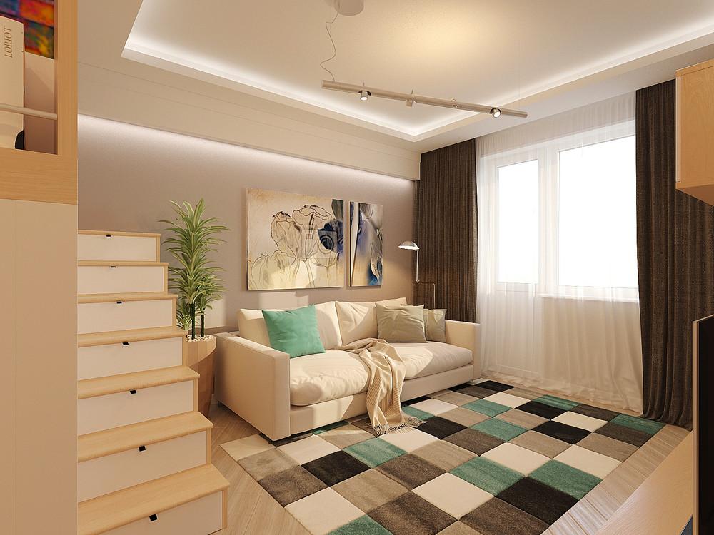 Дизайн интерьера маленькой двухуровневой квартиры - фото 2