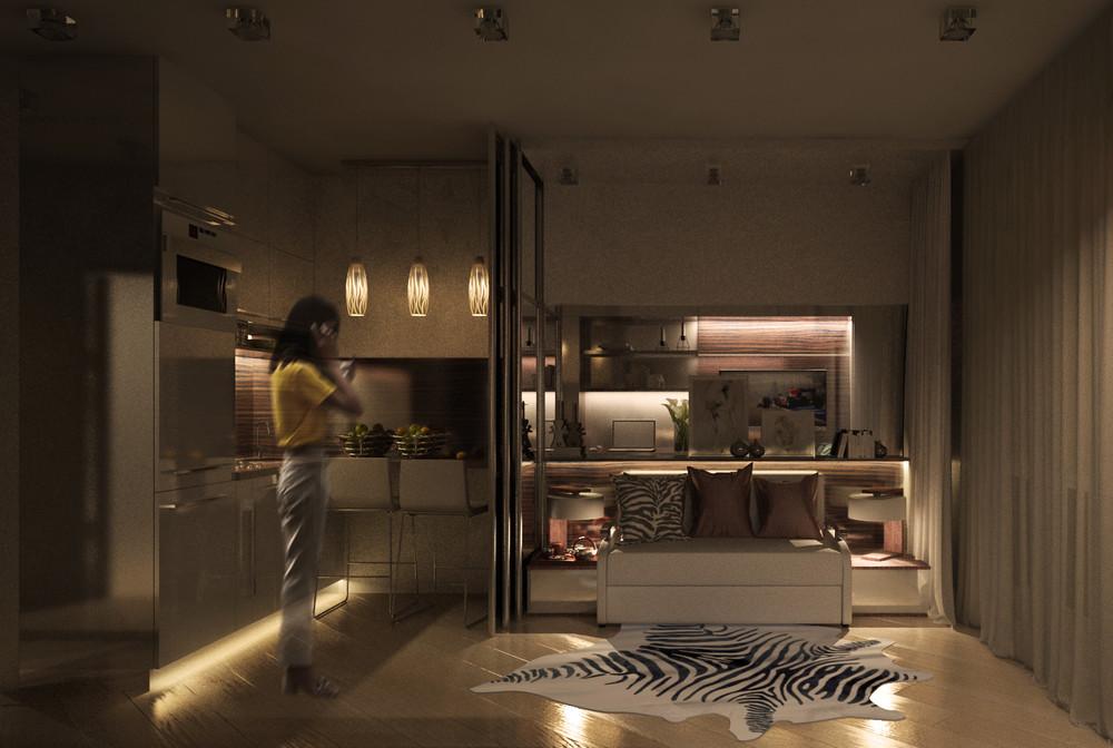 Дизайн интерьера маленькой квартиры в классическом стиле - фото 7
