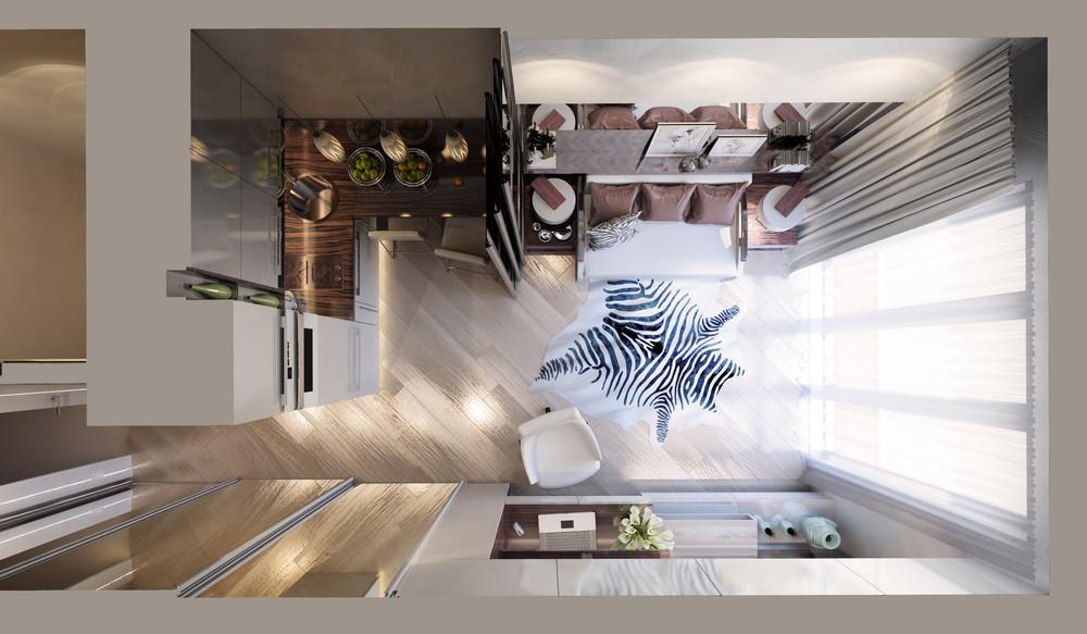Планировка маленькой квартиры в классическом стиле - фото 2