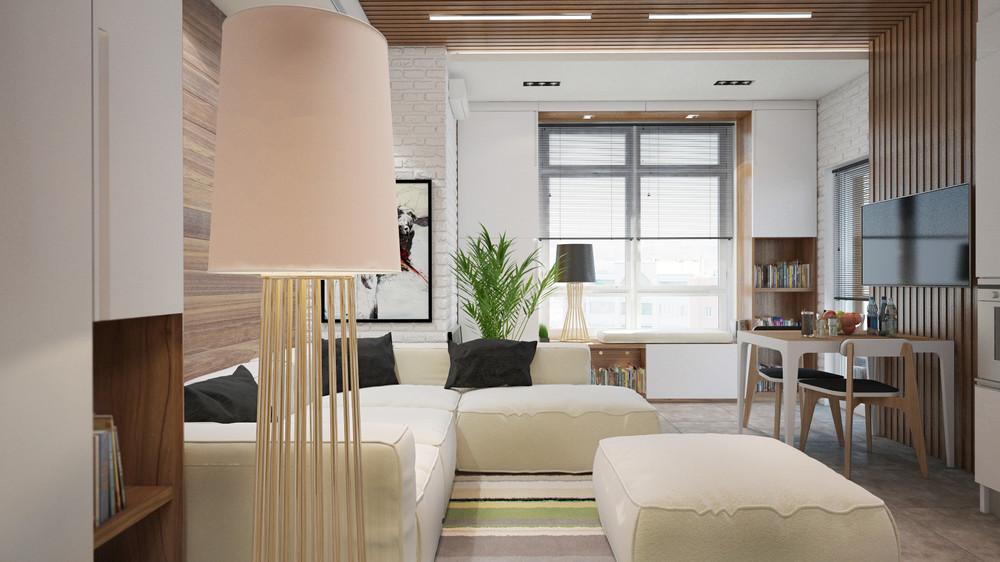 Дизайн интерьера маленькой квартиры в светлых тонах
