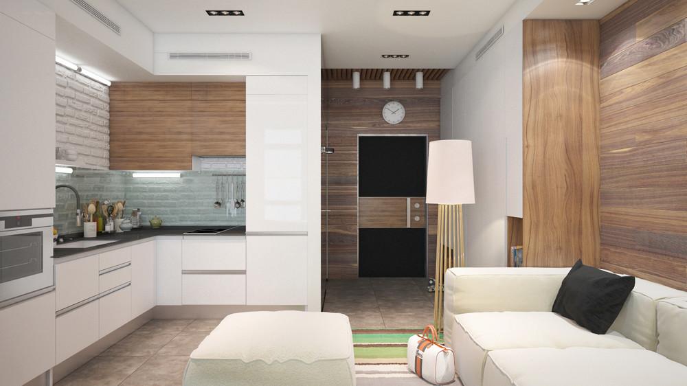 Дизайн интерьера маленькой квартиры в светлых тонах - фото 5