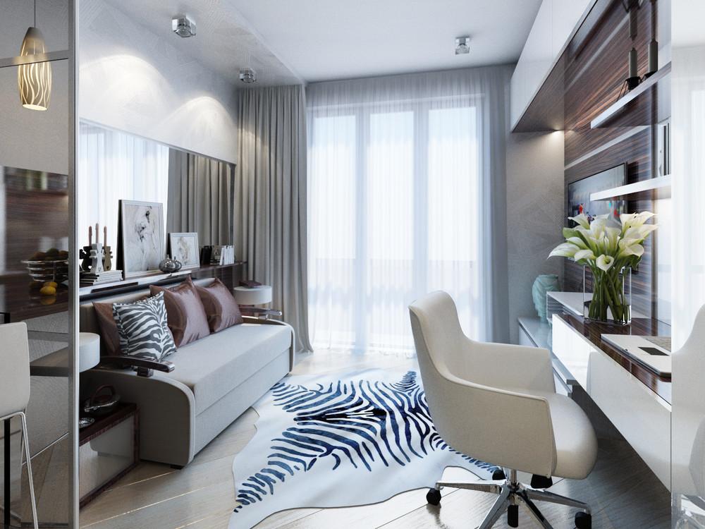 Дизайн интерьера маленькой квартиры в классическом стиле - фото 3