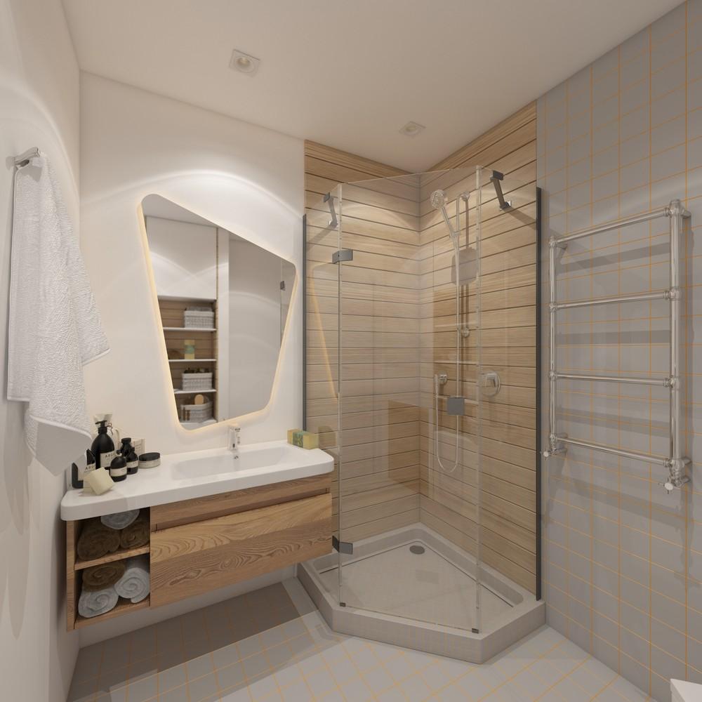 Дизайн интерьера ванной в экостиле