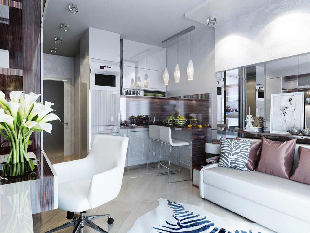 Дизайн интерьера маленькой квартиры в классическом стиле - фото 2