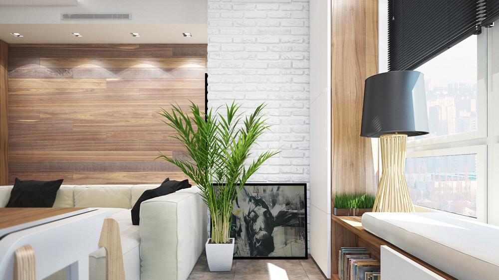 Дизайн интерьера маленькой квартиры в светлых тонах - фото 2
