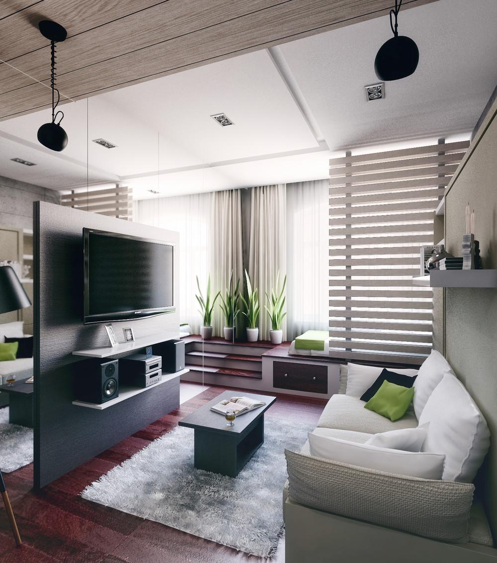 Дизайн интерьера маленькой квартиры в стиле лофт
