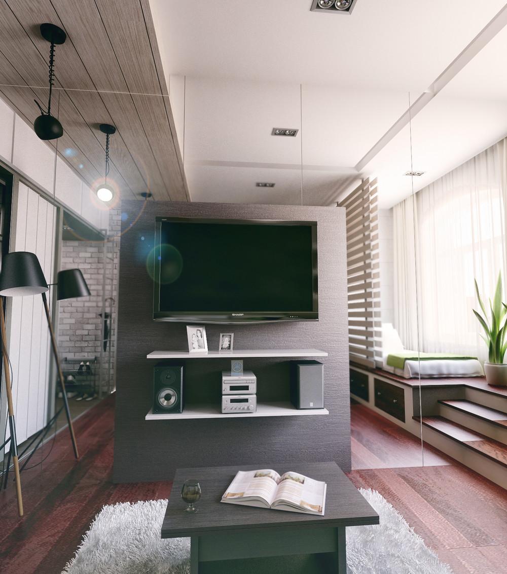 Домашний кинотеатр в маленькой квартире