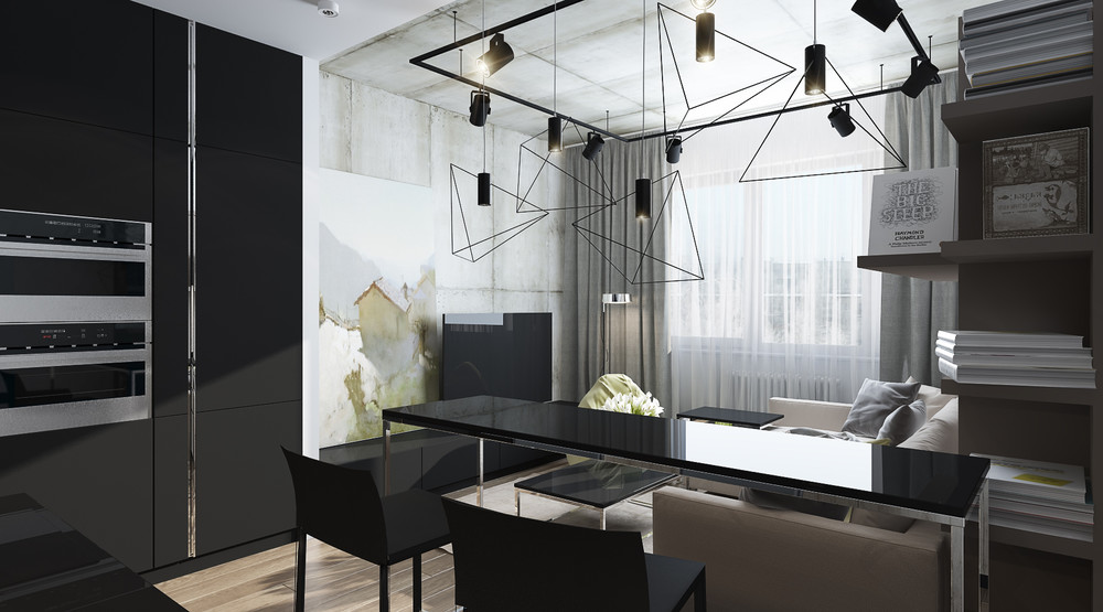 Дизайн интерьера маленькой квартиры в серых тонах - фото 7