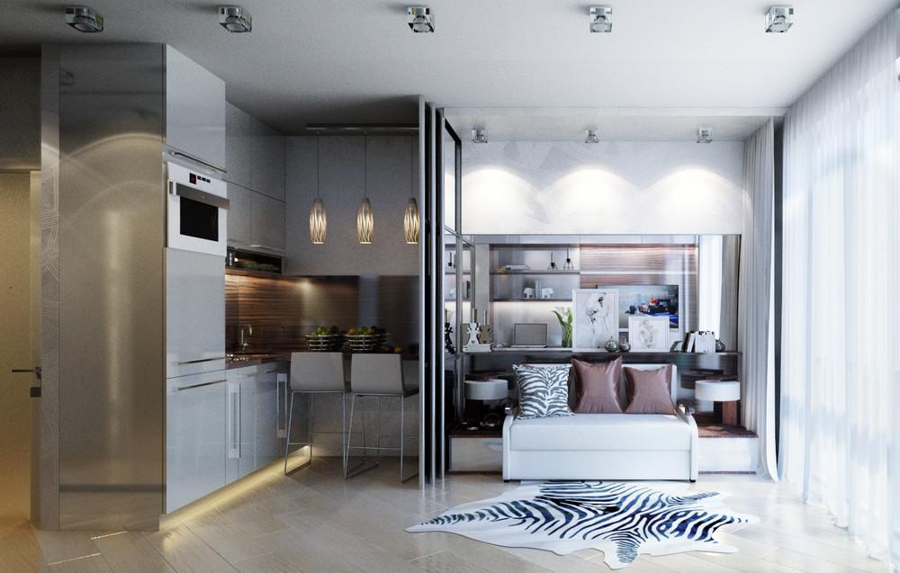 Дизайн интерьера маленькой квартиры в классическом стиле - фото 5