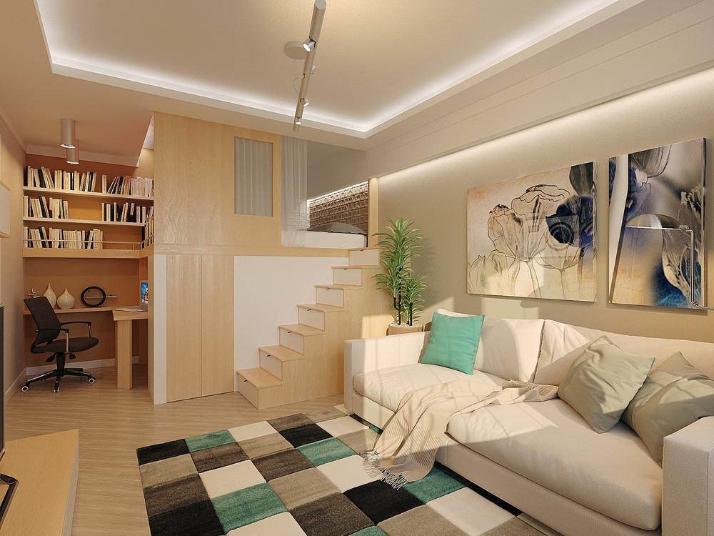 Дизайн интерьера маленькой двухуровневой квартиры