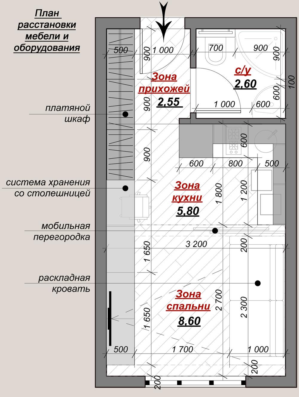 Планировка маленькой квартиры в классическом стиле - фото 3