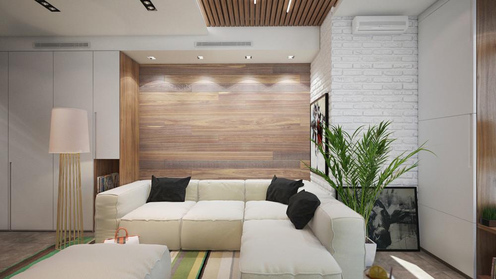 Дизайн интерьера маленькой квартиры в светлых тонах - фото 3