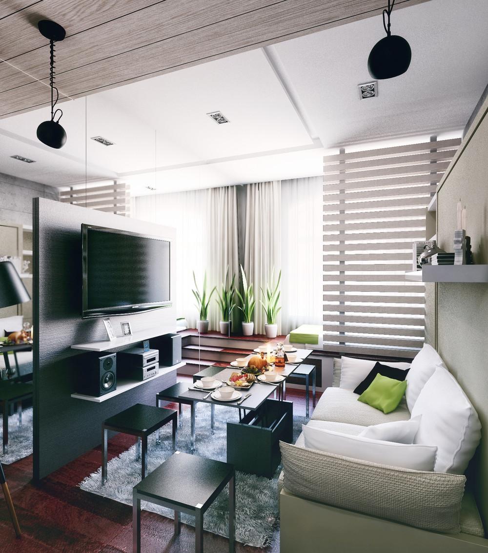 Дизайн интерьера маленькой квартиры в стиле лофт - фото 2
