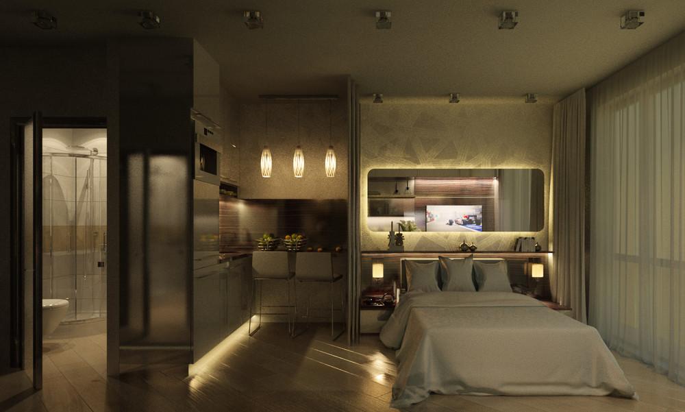 Дизайн интерьера маленькой квартиры в классическом стиле - фото 6