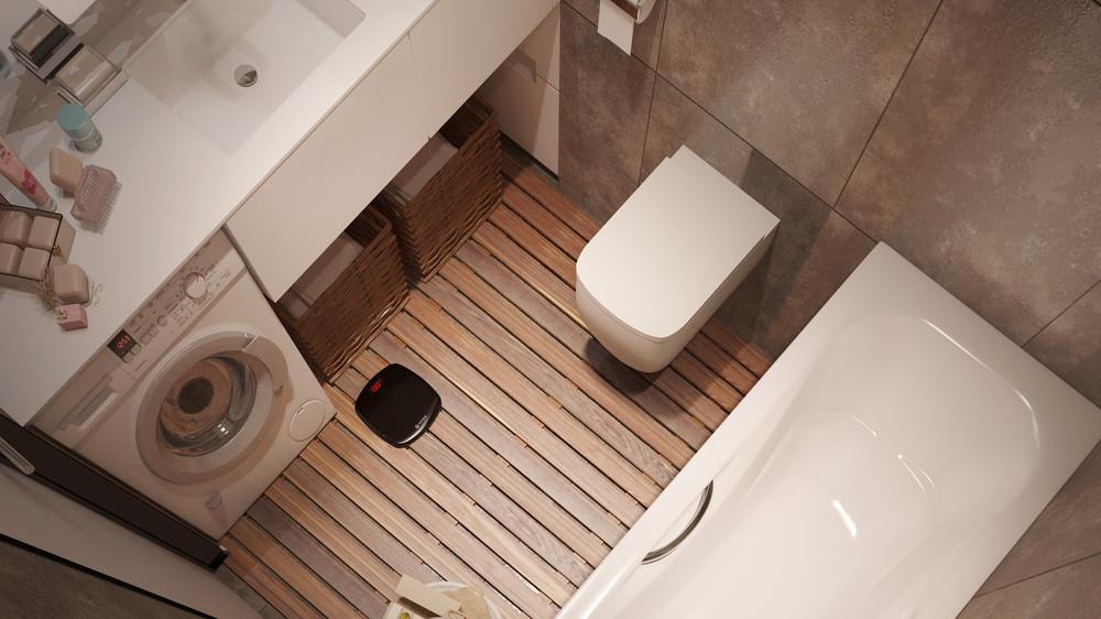 Отделка из натуральных материалов в ванной