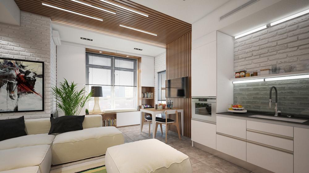 Дизайн интерьера маленькой квартиры в светлых тонах - фото 4