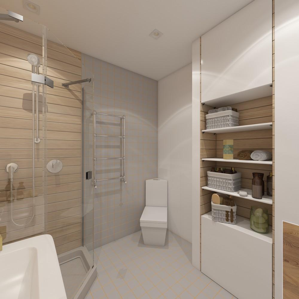 Ванная комната в натуральных тонах
