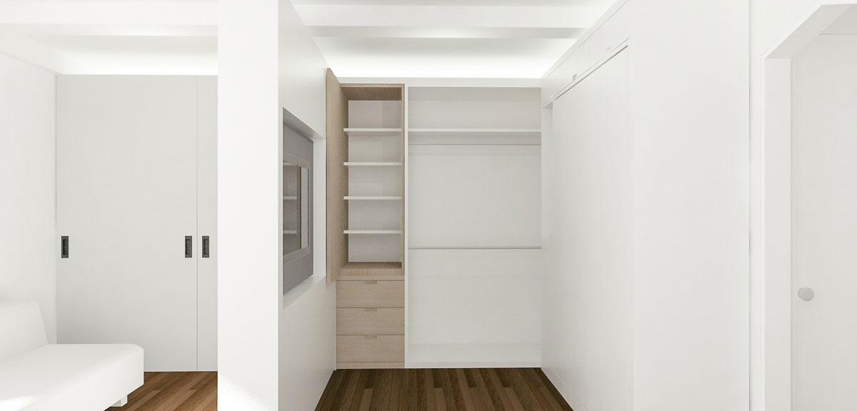 Передвижная перегородка в интерьере маленькой квартиры