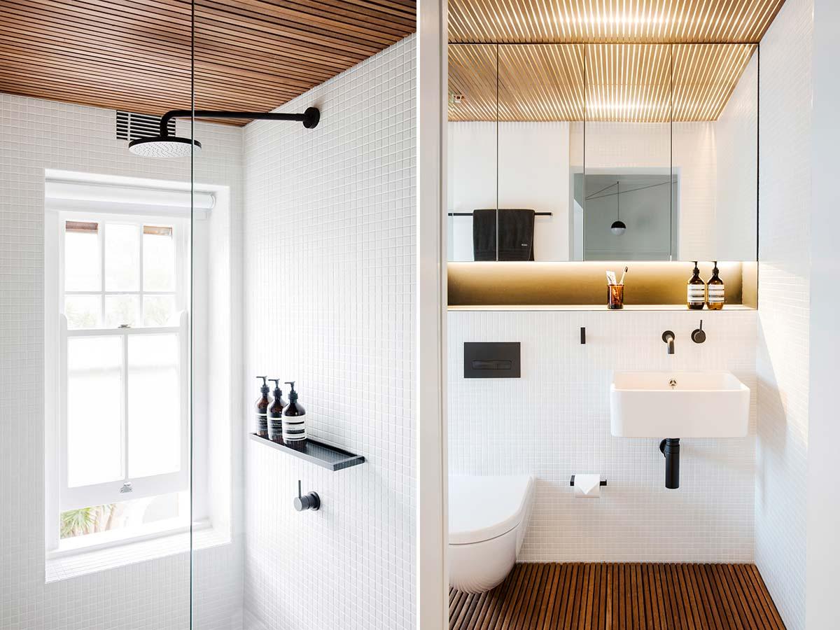 Дизайн интерьера маленькой квартиры в Сиднее - ванная