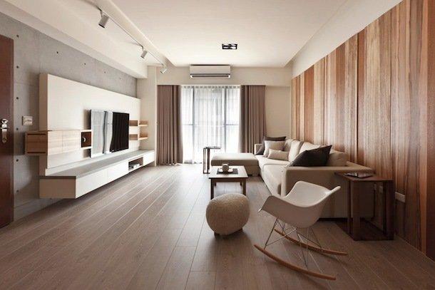 Интерьер просторной светлой гостиной