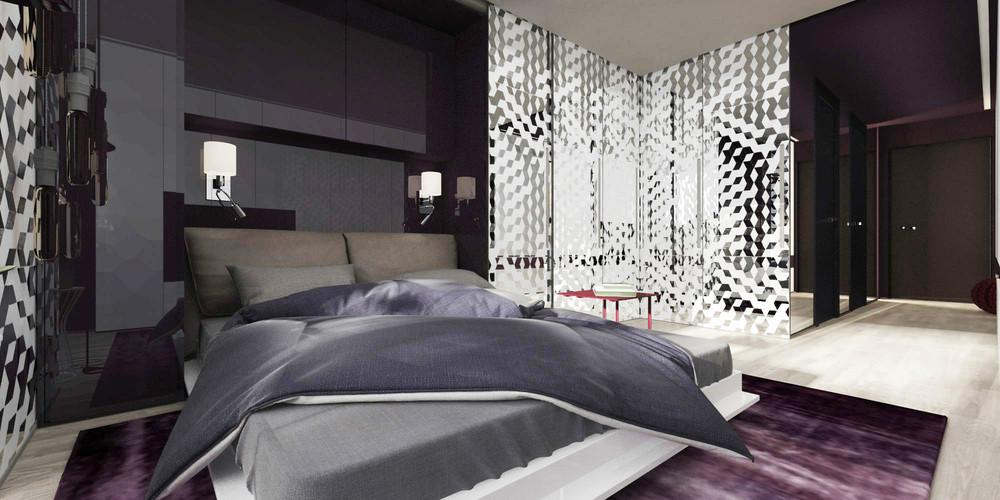 Спальня в крошечной квартире