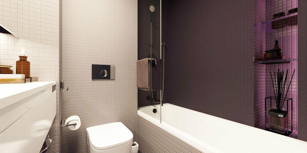 Дизайн ванной в крошечной квартире