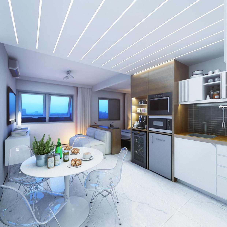 Дизайн кухни в крошечной квартире