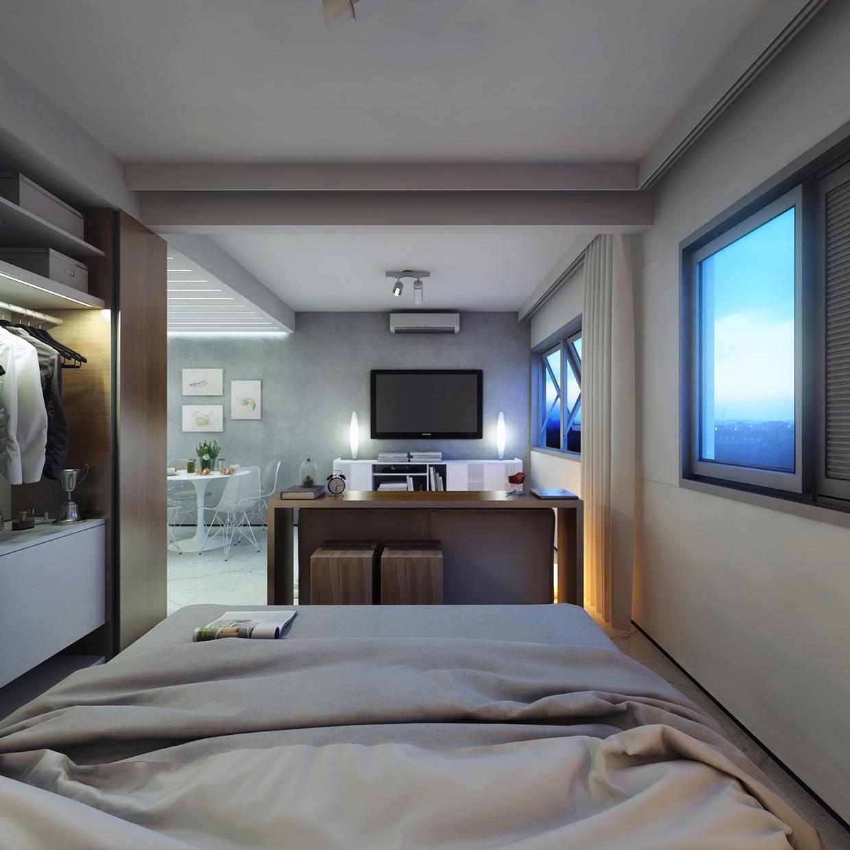 Дизайн спальни в крошечной квартире
