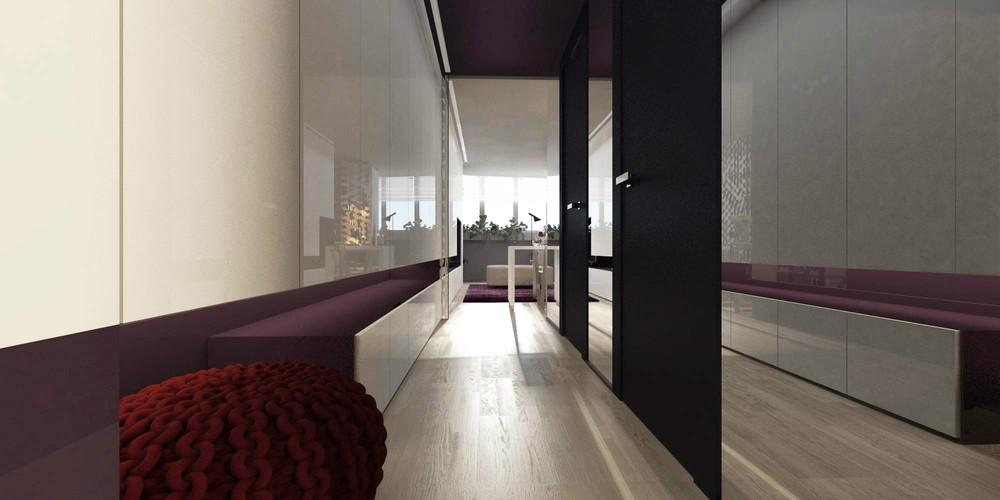 Длинный коридор в крошечной квартире