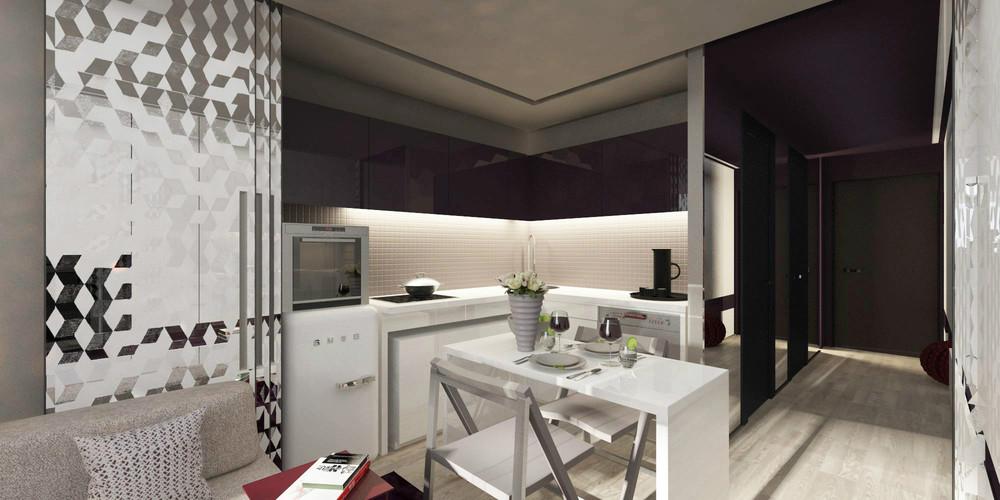 Маленькая кухня в крошечной квартире