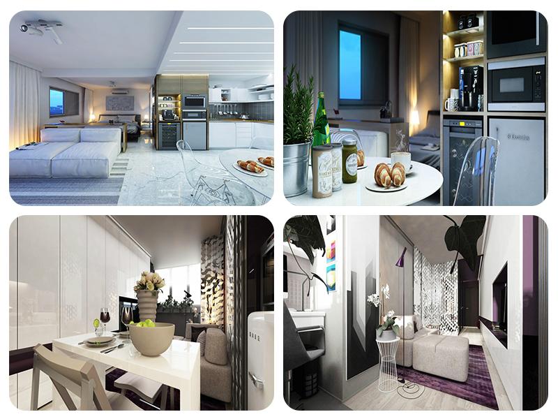 Дизайн крошечных квартир в пастельных тонах