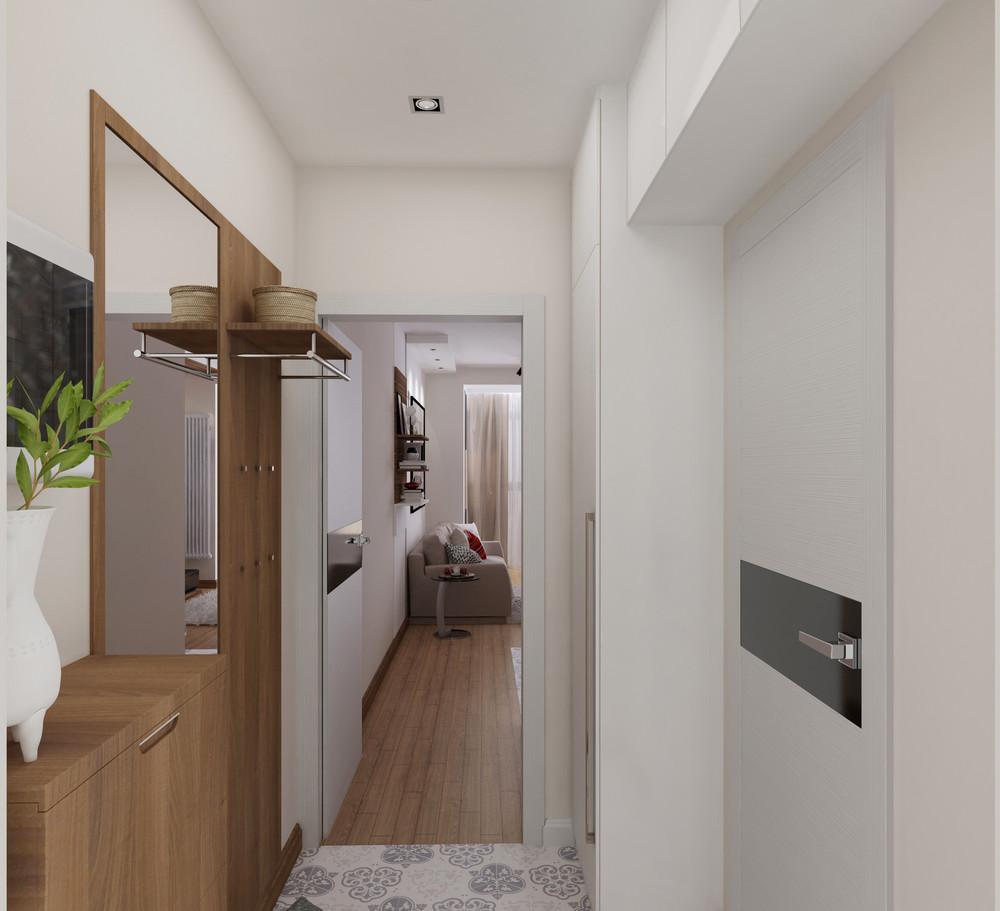 Дизайн квартиры 30 кв. м с красными акцентами - фото 4
