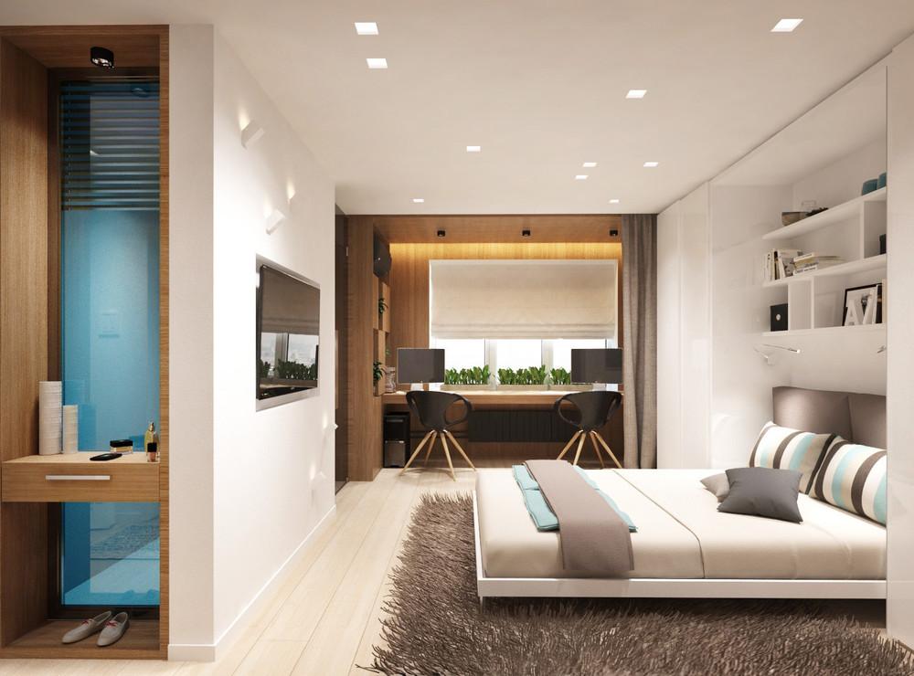 Дизайн квартиры 30 кв. м в пастельных тонах - фото 2