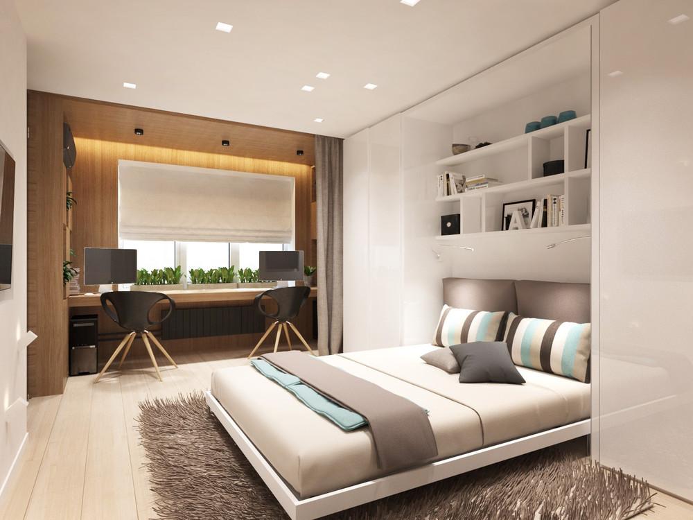Дизайн квартиры 30 кв. м в пастельных тонах - фото 4