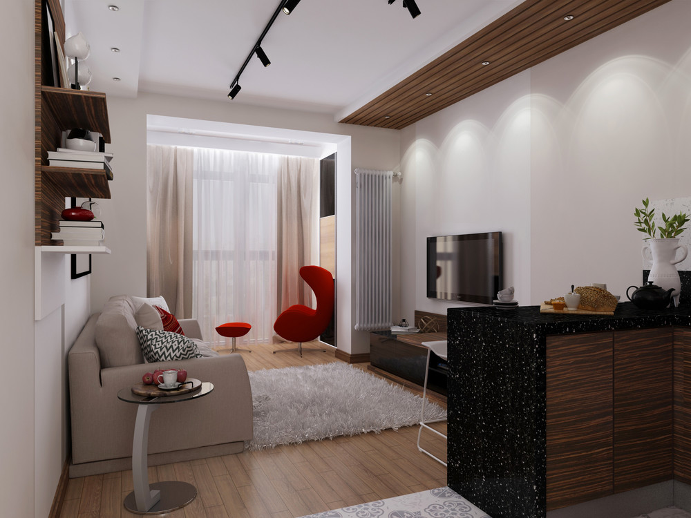 One-bedroom apartment design 30 m2