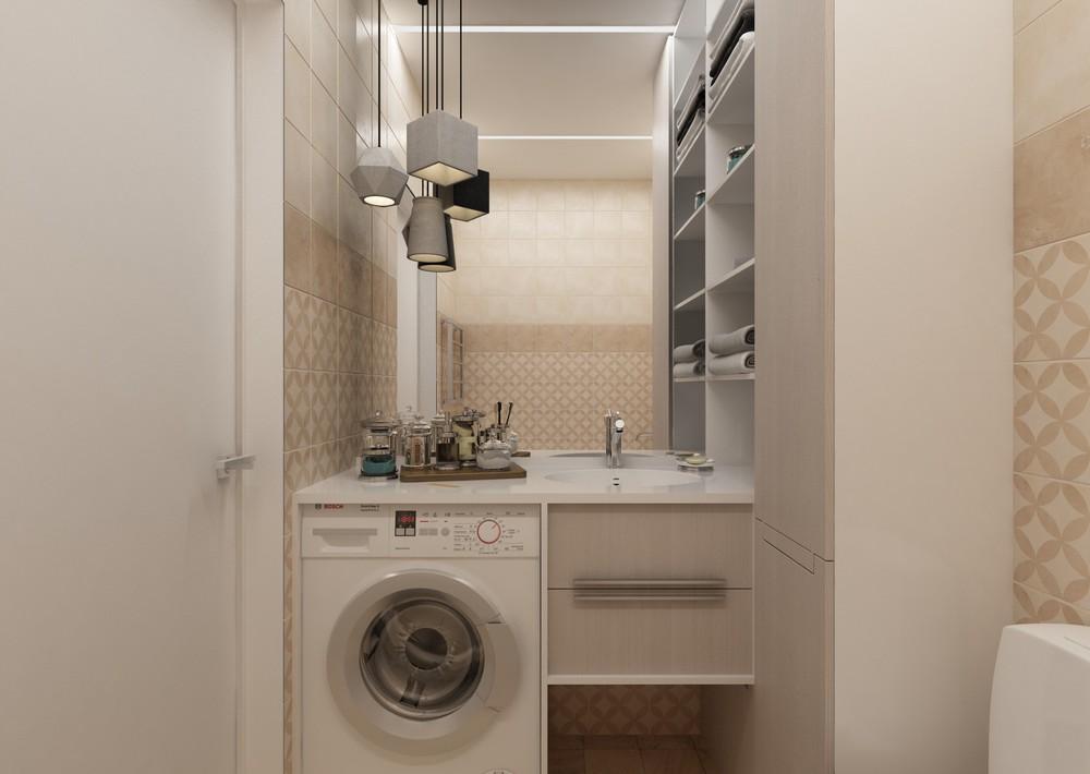 Дизайн ванной комнаты в светлых тонах - фото 2