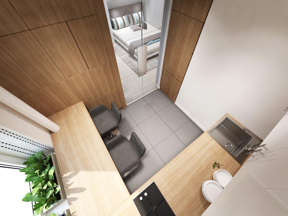 Дизайн квартиры 30 кв. м в пастельных тонах - фото 7