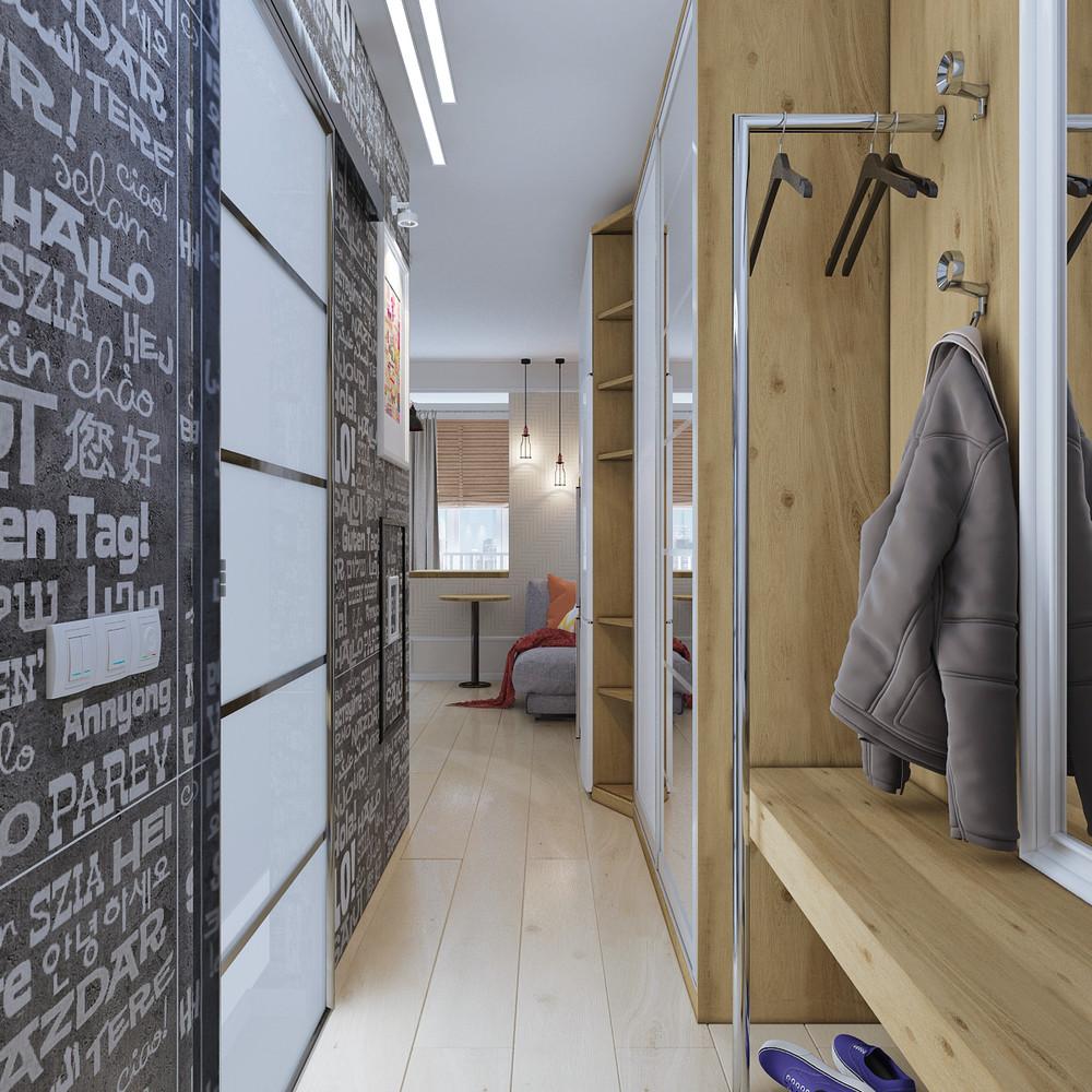 Дизайн квартиры 30 кв. м в натуральных тонах - фото 4