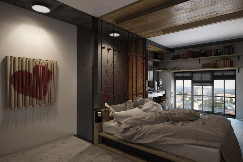 Арт-объекты в интерьере спальни