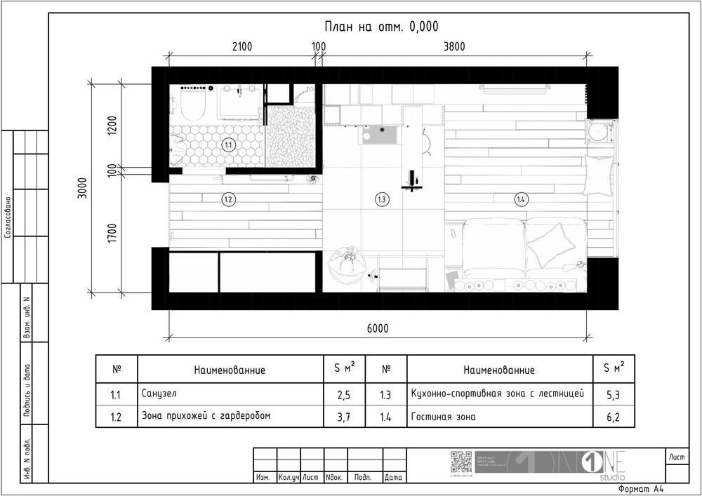 Планировка первого этажа квартиры