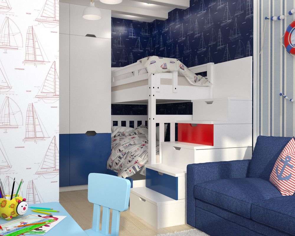 Интерьер детской в маленькой квартире