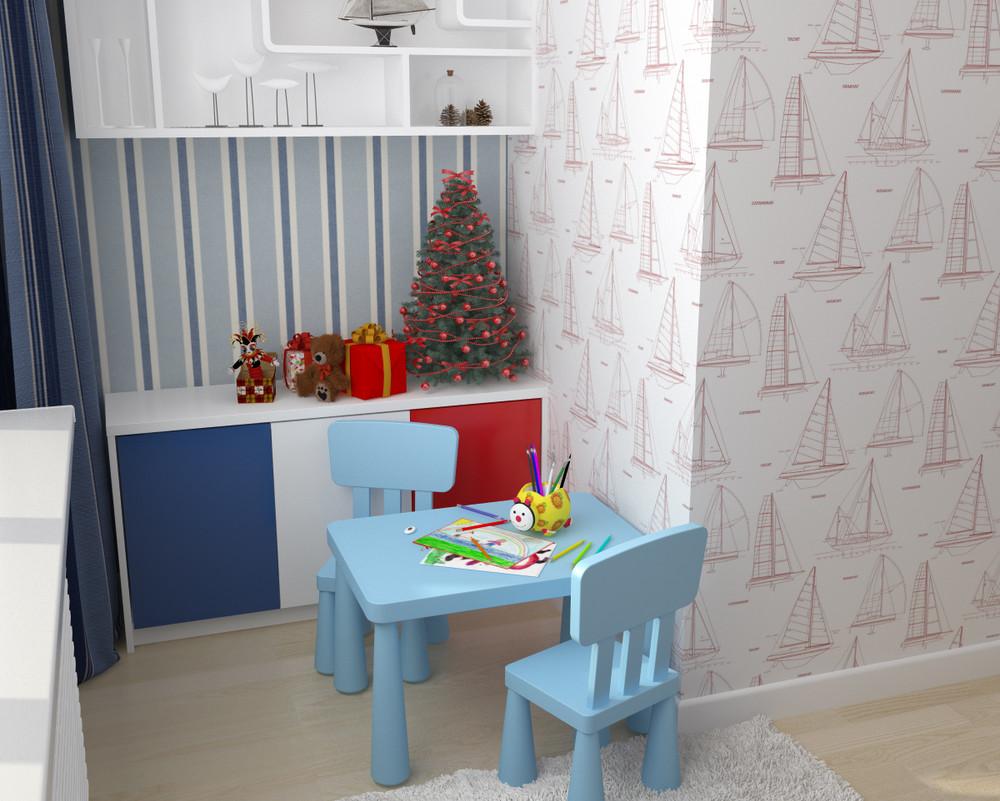 Игровая зона в маленькой комнате